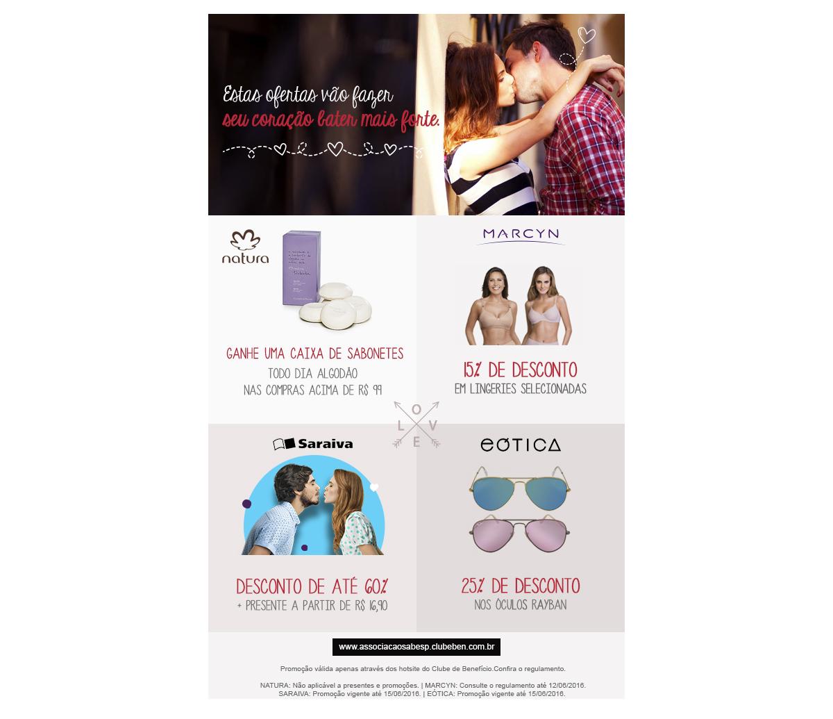 Associação Sabesp - Promoção Dia dos Namorados fc9ad5aa09